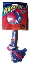 2 Knot Multi-Color Cotton Blend Rope Toy #12411